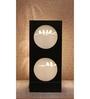 Material Studio White & Black Wood & Handmade Paper Chit Chat Table Lamp