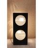 Material Studio White & Black Wood & Handmade Paper Lotus Table Lamp
