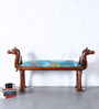 Maurya Handcrafted Bench with Fabric by Mudramark