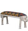 Avagraha Kilim Bench in Ikat Print by Mudramark