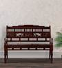 Maurya Handcrafted Bench in Honey Oak Finish by Mudramark