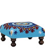 Upasri Stool in Embroidered Fabric by Mudramark