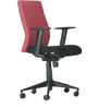 Maxima Series D Mid Back Office Chair in Red and Black Mix colour by BlueBell Ergonomics