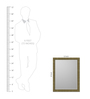 Maximiliano Minimalist Mirrors in Brown by CasaCraft