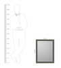 Maximino Minimalist Mirrors in Brown by CasaCraft