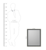 Maximo Minimalist Mirrors in Silver by CasaCraft