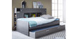 McTyler Teen Bed with Trundle & Storage Headboard in Prata Oak Finish by Mollycoddle