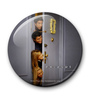 MC SID RAZZ Multicolour Metal Official Friends Hiding Behind The Door Fridge Magnet Licensed by Warner Bros USA