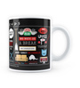 MC SID RAZZ Official Friends Infographic Ceramic 230 ML Mug Licensed By Warner Bros USA