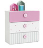 McLailah Chest of Three Drawers in Pearl White Finish by Mollycoddle