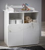 McWillow Changing Table cum Storage Chest in Velvet White Finish by Mollycoddle