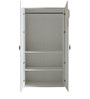 McWillow Two Door Wardrobe in Velvet White Finish by Mollycoddle