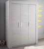 McZuriel Three Door Wardrobe in Bristol Oak Finish by Mollycoddle