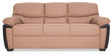 Memphis Monarch Three Seater Sofa in Light Brown Colour by Urban Living