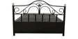 Metal Queen Hydraulic Bed with Storage in Black Colour by Diamond Interiors