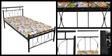 Metal Single Size Bed  by FurnitureKraft