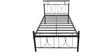 Metallic Single Size Bed by FurnitureKraft