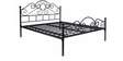 Metallic Double Bed in Black Colour by FurnitureKraft