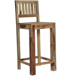 Cartagena Bar Chair in Natural Sheesham Finish by Woodsworth