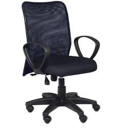 Medim Back Ergonomic Chair in Black Colour by Home City