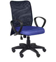 Medim Back Ergonomic Chair in Blue Colour by Home City