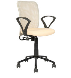 Ergonomic Mid Back Chair in Beige Colour by Star India