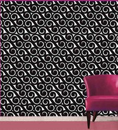 Me Sleep Black PVC Wallpaper