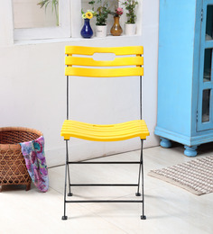Colville Folding Chair in Yellow Color by Woodsworth