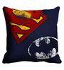 Me Sleep Batman & Superman Logo Digitally Printed Cushion Cover