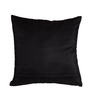 Me Sleep Black Duppioni 16 x 16 Inch Hand Embroidery Cushion Cover