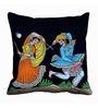 Me Sleep Black Satin 16 x 16 Inch Cushion Cover