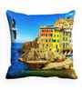Me Sleep Blue Satin 16 x 16 Inch Cushion Cover