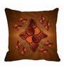 Me Sleep Brown Microfibre 16 x 16 Inch Cushion Cover
