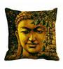 Me Sleep Brown Satin 16 x 16 Inch Peaceful Buddha Cushion Cover