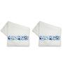 Me Sleep Multicolour Cotton 14 X 24 Inch Hand Towel - Set of 2
