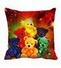 Me Sleep Multicolor Cotton 16 x 16 Inch Teddy Bears Digitally Printed Cushion Cover