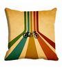 Me Sleep Multicolor Microfibre 16 x 16 Inch Cushion Cover