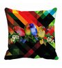Me Sleep Multicolor Microfibre 16 x 16 Inch Cushion Cover
