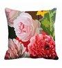 Me Sleep Multicolor Satin 16 x 16 Inch Floral Bunch Cushion Cover