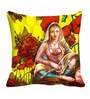 Me Sleep Multicolor Satin 16 x 16 Inch Love Digitally Printed Cushion Cover