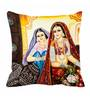 Me Sleep Multicolor Satin 16 x 16 Inch Queen Digitally Printed Cushion Cover