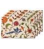 Me Sleep Multicolour Silk 11 x 17 Inch Floral Table Mat - Set of 4