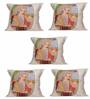 Me Sleep Multicolour Microfibre 12 x 12 Inch Royal Queen Cushion Covers Digitally Printed - Set of 5