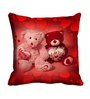 Me Sleep Red Cotton 16 x 16 Inch Teddy Bear Lovers Digitally Printed Cushion Cover