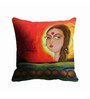 Me Sleep Red Microfibre 16 x 16 Inch Face Digitally Printed Cushion Cover