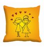 Me Sleep Yellow Satin 16 x 16 Inch Cushion Cover