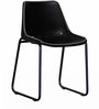 Medina Black Color Leather Accent Chair by Bohemiana