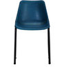 Medina Ink Blue Color Leather Accent Chair by Bohemiana