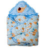 Mee Mee Baby Warm Wrapper Cum Blanket with Hood in Blue Colour