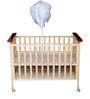 Mee Mee Baby Wooden Cot in Brown